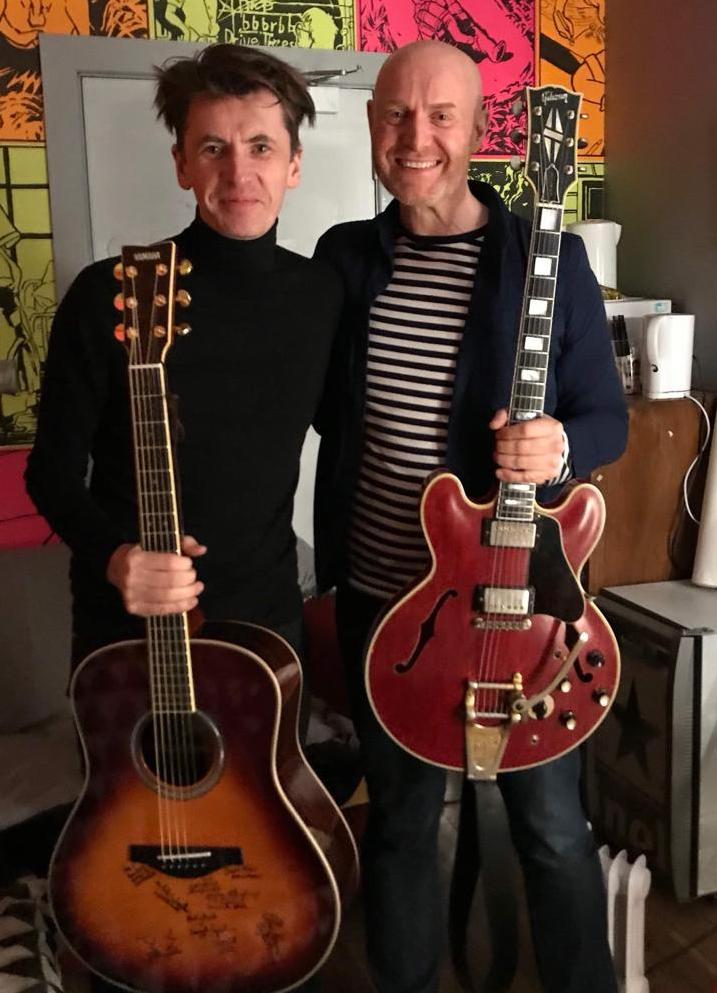 Steve with Bernard Butler in Belfast